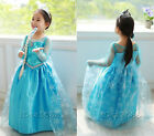 Frozen Princess Elsa Cosplay Party Fancy Dress Outfit Costume Girl Gift Age 3-8