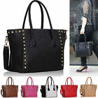 Womens Designer Handbags Ladies Shoulder Bags Tote Studded Faux Leather Fashion