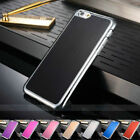 Ultra Slim Brushed Metal Case For iphone 6 6plus With Chrome Electroplating