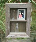Shadow Box Wall Shelf Beach Chic Cottage Chic Distressed Furniture Rustic Frame