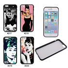"Pretty Audrey Hepburn TPU Frame Hard Back Case Cover For 4.7'' 5.5"" iPhone 6"