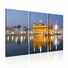 India 4 Cityscape Asia Canvas 3A Framed Printed Wall Art ~3 Panels