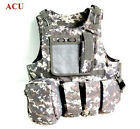 Hot Airsoft Combat Paintball Tactical Nylon Molle-Vest ACU CP Black