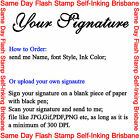 """Approved"" or Personalised Text Name Signature Flash Stamp Self Inking Refillabl"