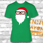 RETRO SANTA WITH GLASSES T-SHIRT - STOCKING FILLER - SECRET SANTA