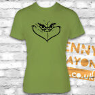 GRINCH FACE KIWI T-SHIRT - THE CHRISTMAS GRINCH - STOCKING FILLER - SECRET SANTA
