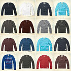 HOLLISTER by Abercrombie Mens Henley Long Tee NEW Shirt Pacific Coast  ALL SIZE