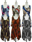 NWT Women Handkerchief Skirt Silhouette Scoop Neckline Tank Dress Jon & Anna