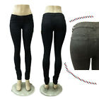 Sexy lady Snakeskin Mid Rise Slim Pencil Tights Stretch Skinny Women jeans pants