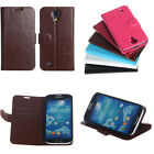Luxury 6 Colors Credit card holder Stand Flip Case Cover For Samsung Galaxy S4