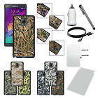 For SAMSUNG GALAXY NOTE 4 Camo Rugged Plastic Impact Charger Cable Cover Case