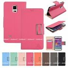 Wallet Leather Book Stand Flip Case Cover For Apple iPhone Samsung LG Phones