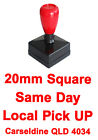 20mm Square Customed Custom Rubber Flash Stamp Pre inked Self Inking Laser Cut