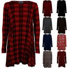Women's Stretch A Line Casual Ladies Swing Flare Skater Long Sleeve Dress 8-26