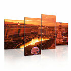 Las Vegas 9 USA American Citysacape 4R-RH Framed Print Canvas Wall Art~ 4 Panels