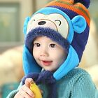 Baby Winter Warm Hat Children Kid Cap Earflaps Thickening Cartoon Monkey Knitted