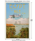Vintage 1920s Egyptian Airline Travel Poster - MISR Air #2 - Egypt and the Nile