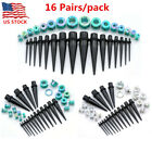 32Pc Gauges Acrylic Ear Taper Stretcher Screwed Tunnels Plugs Stretching Kit Set