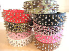 dog spike collars - Spiked, Studded PU Leather Dog Collar 4 Large Dog, Pink, Red, Black, Camouflage