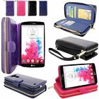 For LG G Vista VS880 (Verizon / AT&T) Pu Leather Wallet Card Slot Bag Pouch Case