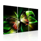 MODERN ABSTRACT ART Butterfly Illusions Canvas Framed Print ~ 3 Panels