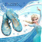 BLUE SHOES FROZEN ELSA PRINCESS GIRLS FANCY DRESS UP COSPLAY JELLY PARTY COSTUME