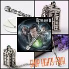 Dr. Who 3D Tardis Necklace Green Tardis Stone BBC TV Show Doctor Who