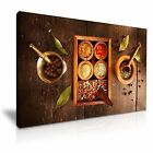INDIAN SPICE HERB PEPPER Canvas Framed Print Restaurant Deco ~ More Size