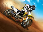 MOTORCROSS 01 FRAMED CANVAS ART PRINT A0 A1 A2
