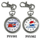 NEW* PEPSI Soft Drinks - KeyChain Key Watch Silver