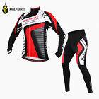 New Men's Cycling Bicycle Bike Comfortable Long Sleeves Jersey 3D Padded Pants