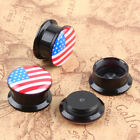 Cartoon Flesh Organic Double Flare Ear Plugs Tunnels Expander Earlets Gauges