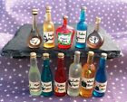 Dolls house  Witch Potion Bottles Wizard Spooky Halloween Miniatures Set 2