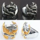 """Men's Biker Ring Stainless Steel Eagle """"Live To Ride,Ride To Live"""" Finger Rings"""
