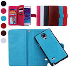 Magnetic PU Flip Wallet Card Case Cover for iPhone 6S/Plus Samsung Galaxy Note 4