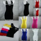 Lot Color Mesh Hollow Plain Long TANK TOP Layering Cami Camisole Sexy Basic Vest