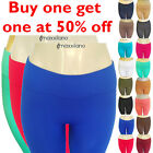 Womens Fleece Lined Leggings Thick Warm Winter Thermal Solid Pants New XS,S,M,L