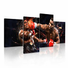 Mike Tyson Boxing Sport Modern Wall Art Canvas Print Framed Box 4pc