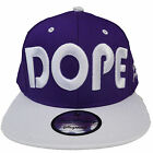 State Property Dope Plain Mens Ladies Womens New Purple White Snapback Hat Cap