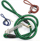 New Dog leash - Hand Crafted Nylon Braided Spring Dog Leash Lead -Green Blue Red