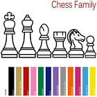 CHESS FAMILY CUSTOM FIGURES DAD MOM TEENS KIDS PETS VINYL STICKERS DECAL (CF-01)