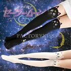 Anime Sailor Moon Cosplay Luna Cat Pattern Pantyhose Tights Socks FKS