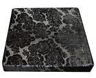 *Limit Stock*Mq05t Metallic Rose Flower Black Velvet Box Sofa Seat Cushion Cover