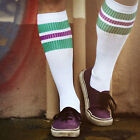 Oldschoolsocks by Spirit of 76 | the green Purples on white Hi | Tubesocks