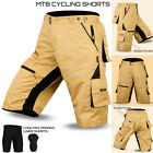 MTB Cycling Short Off Road Cycle Bicycle CoolMax Padded Liner Shorts S to XXL