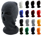 Ski Balaclava Mask Full Face Three Hole Outdoor Winter Unisex Black Ski Snow