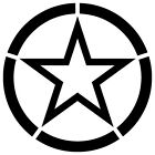 MILITARY STAR VETERAN JEEP HARLEY ARMY DECORATION VINYL DECAL STICKER (ST-06)