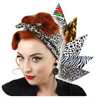 Animal Print Bandana, Retro Head Scarf, Rockabilly Bandana, Leopard, Zebra,Tiger