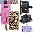For Motorola Droid Turbo XT1254 Pu Leather Wallet Card Slots Pocket Case W/Strap