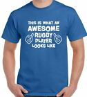 This Is What An Awesome Rugby Player Looks Like - Mens Funny T-Shirt England Wal